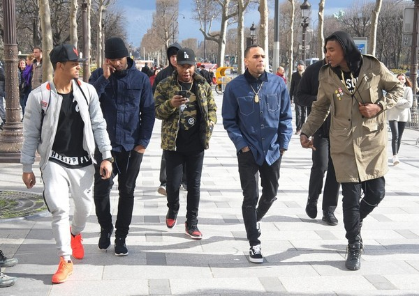 Spotted: Chris Brown in Givenchy Denim Shirt