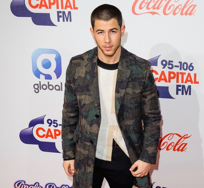 Nick Jonas spotted in Valentino