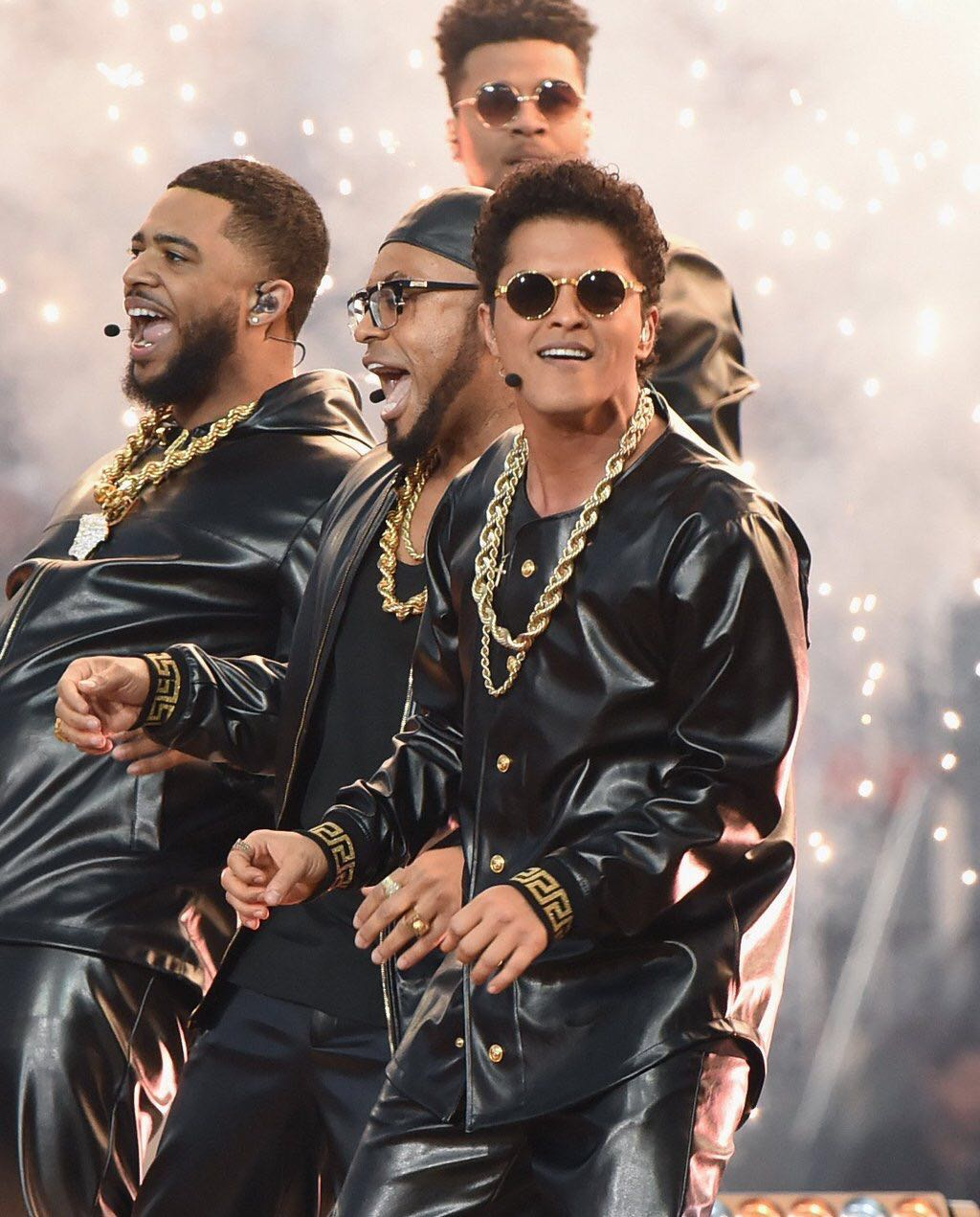 Bruno Mars wears Versace for Super Bowl Performance