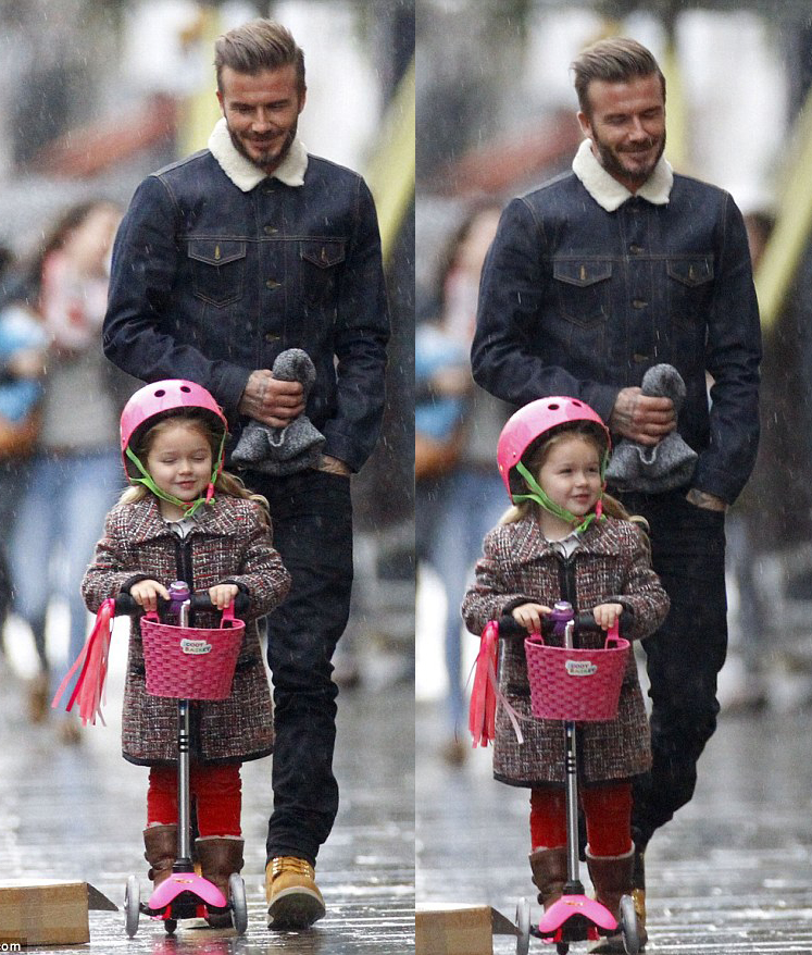 Spotted: David Beckham wears WESC in Notting Hill