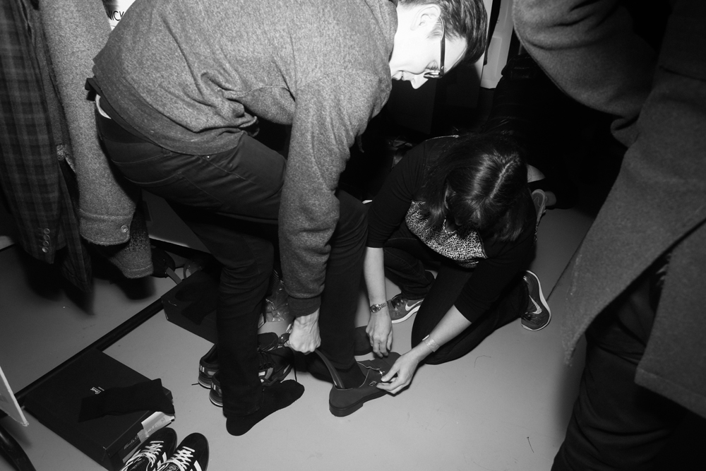 LCM: Backstage at Hardy Amies by Jamie Kendrick