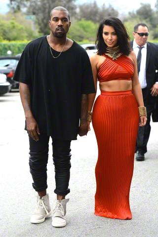 Celebrity Style: Kanye & Kim at the Roc Nation Pre-GRAMMY Brunch