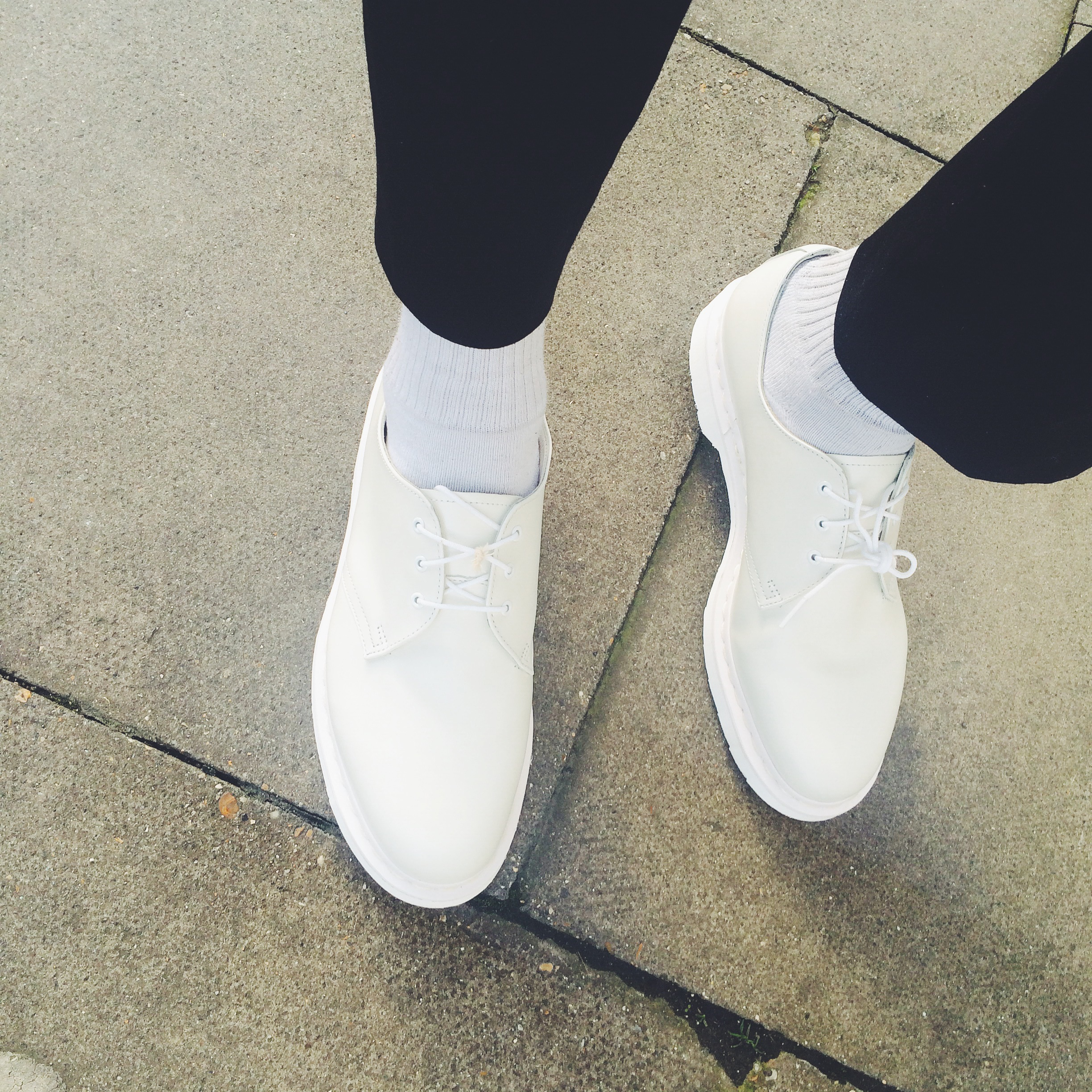 Dr Martens All-White 1461 Spring/Summer 2015 Mono Shoes