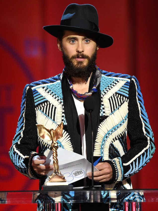 Spotted: Jared Leto in Balmain At The 2015 Film Independent Spirit Awards