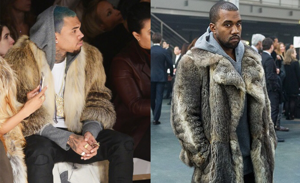 Kanye West Vs. Chris Brown: Who wore the fur coat better?