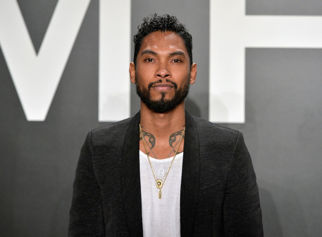 Spotted: Miguel in Moschino at Tom Ford Show