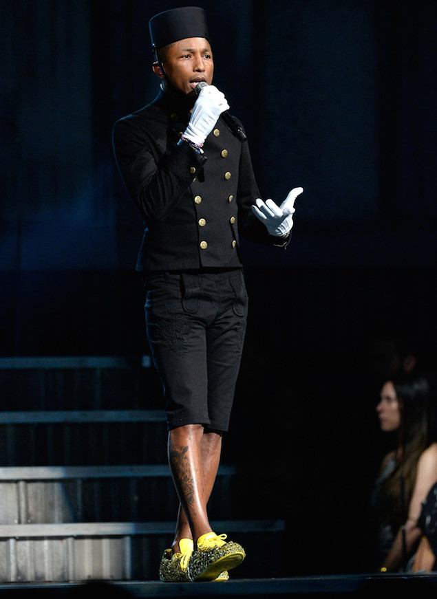 Stage Style: Pharrell Williams in Chanel and Adidas at the Grammy Awards 2015