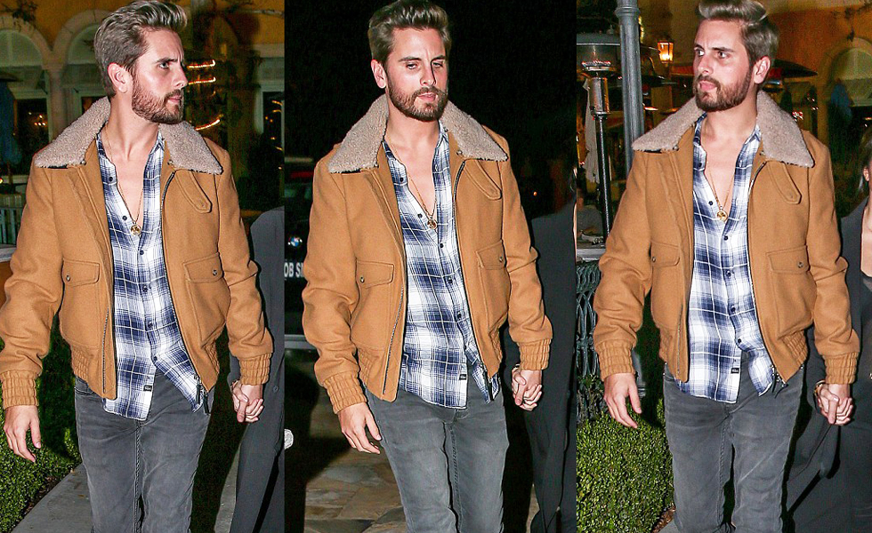 Spotted: Scott Disick in Ami Shearling Jacket and Saint Laurent Boots