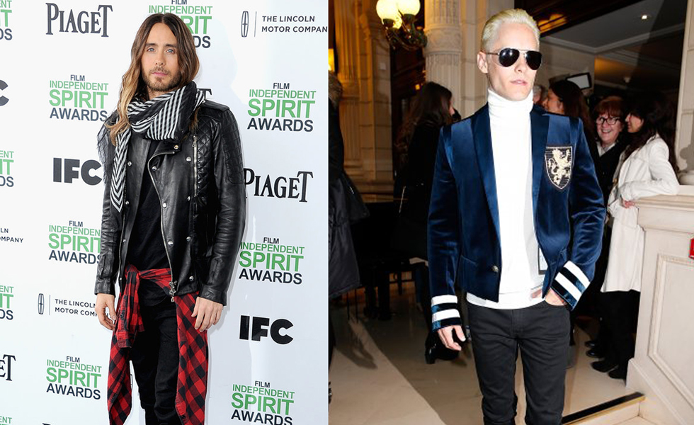 Before And After: Jared Leto Transforms His Look at PFW