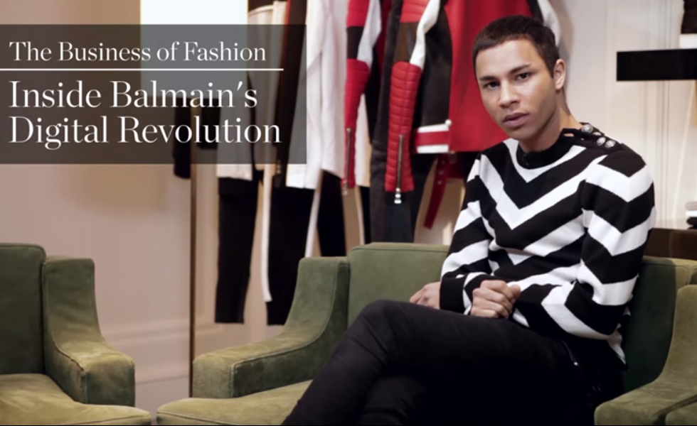 BoF Interviews Olivier Rousteing from Balmain About Digital Revolution