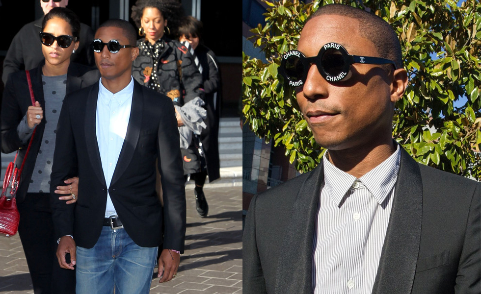 Celebrity Style: Pharrell Williams Wears Chanel Sunglasses To Court