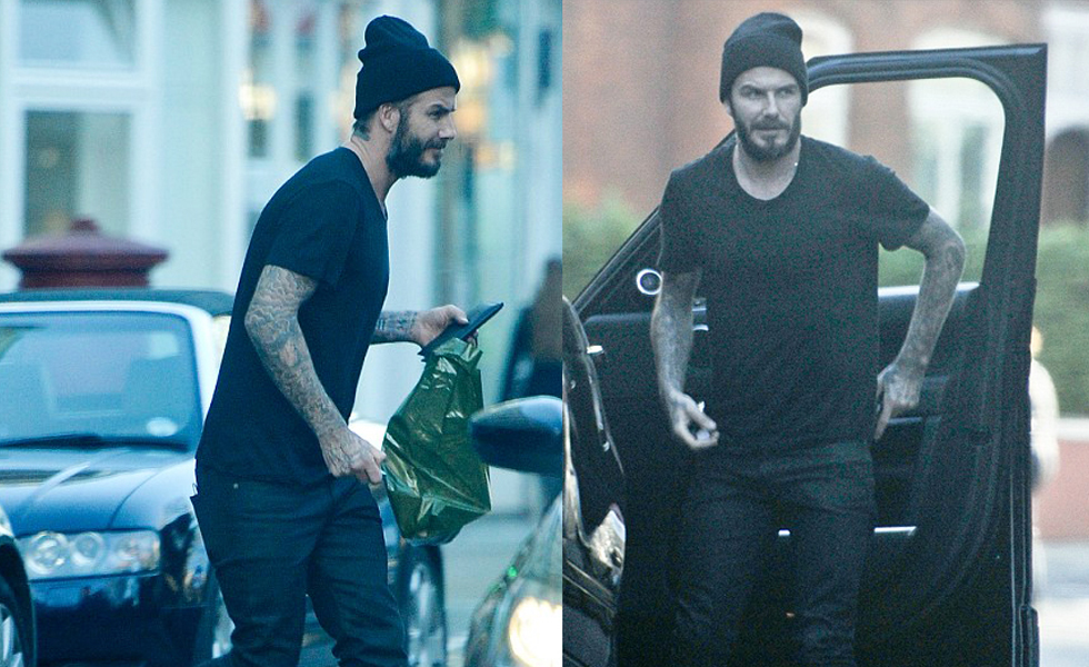 Spotted: David Beckham in Adidas Yeezy Boost Sneakers