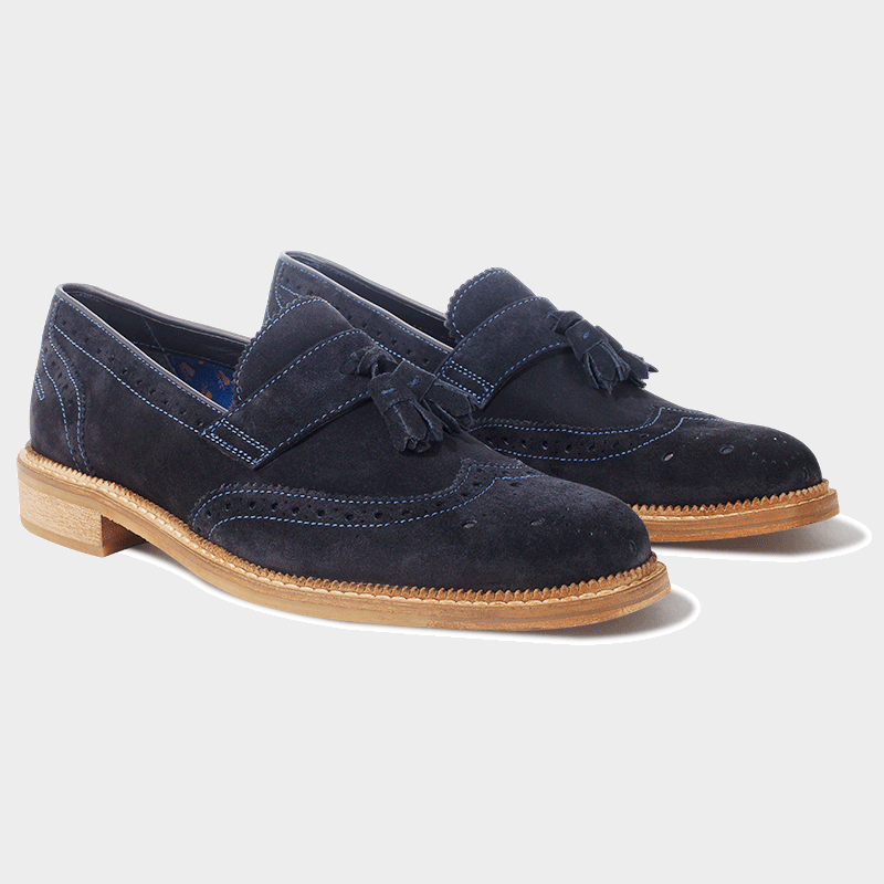 Goodwin Smith Irwell Navy Suede Loafers