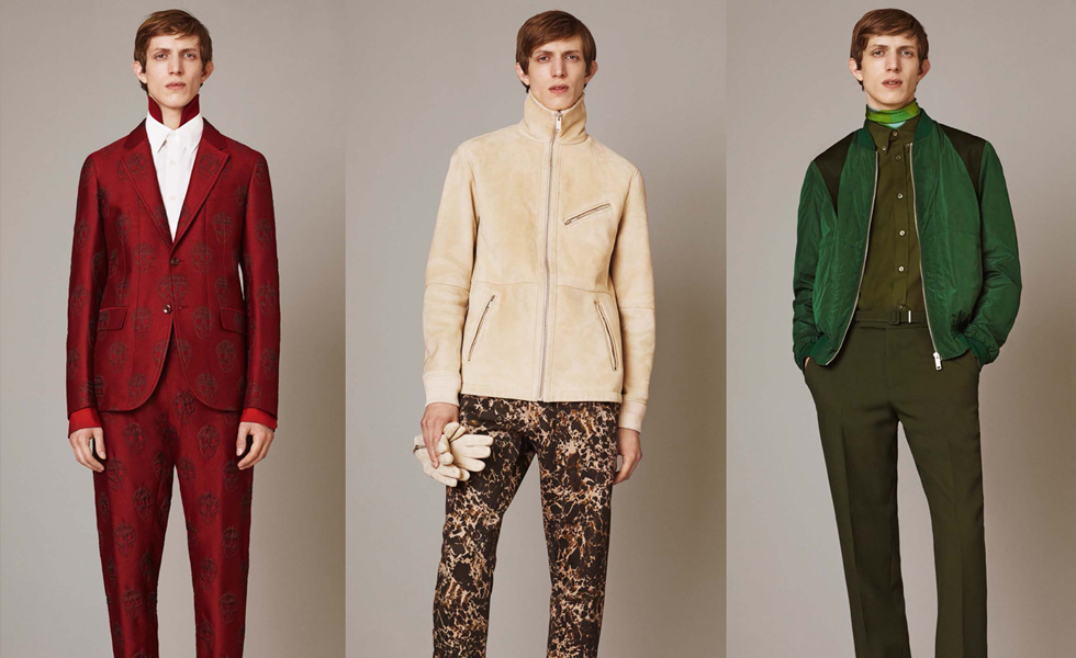 Alexander McQueen Pre Autumn/Winter 2015 Men's Lookbook