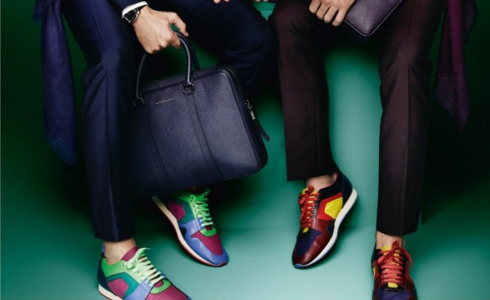 Burberry Men's Spring 2015 Campaign featuring Suits & Sneakers