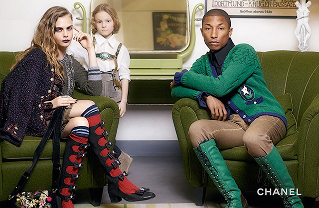 Pharrell, Cara Delevingne & Karl Lagerfeld's Godson Star for Chanel Pre-Fall 15 Paris-Salzburg Campaign