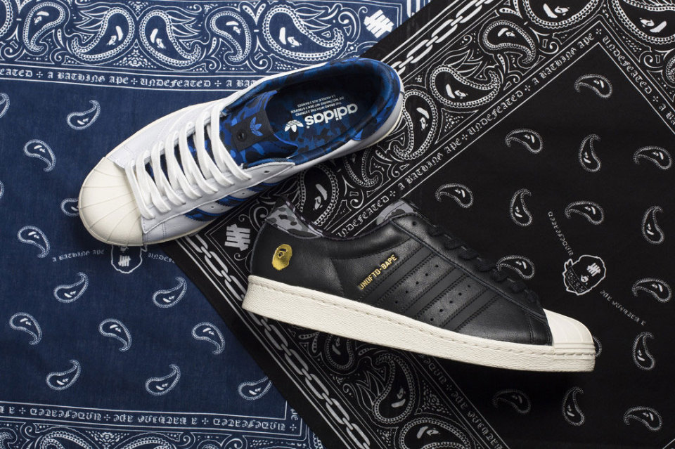 BAPE x Undefeated x adidas Originals Superstar Collaboration