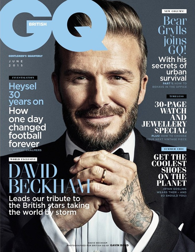David Beckham Covers GQ June 2015 British GQ