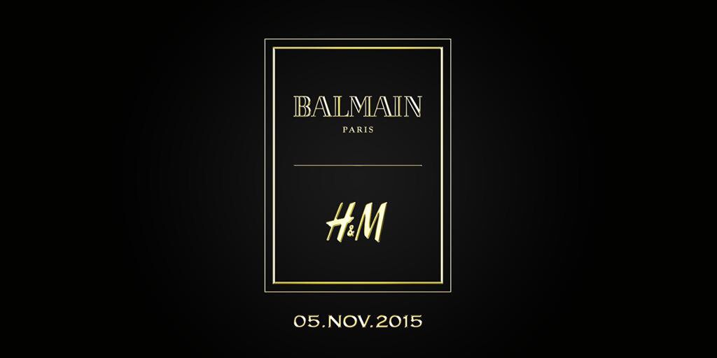Balmain x H&M To Launch 5th November 2015