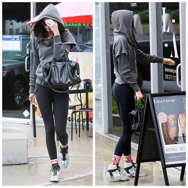 Spotted: Kendall Jenner in Balenciaga Marble Sneakers