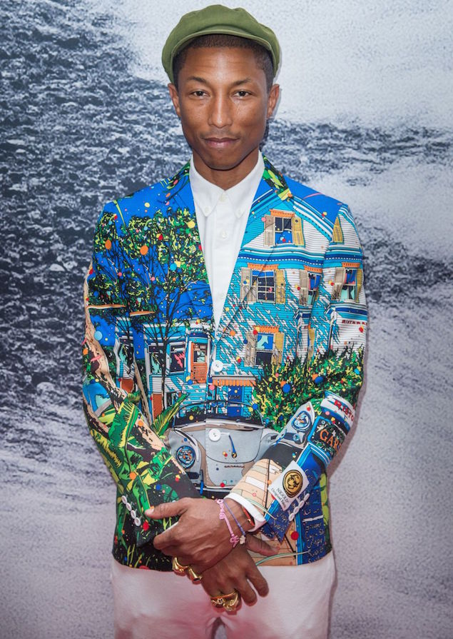Spotted: Pharrell Williams Wears Nigo x United Arrows at Cannes, France