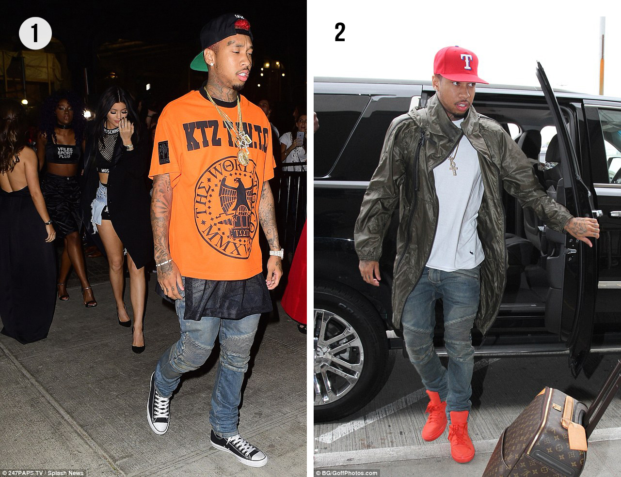 Celebrity Style: Tyga wears KTZ, Balmain, Balenciaga + More – Vote Best Look