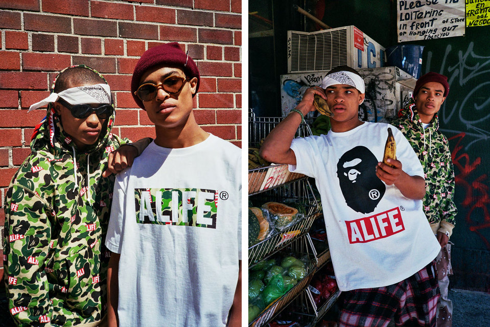 A Bathing Ape x ALIFE Spring/Summer 2015 Lookbook
