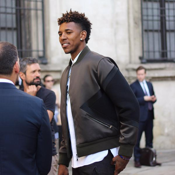 Spotted: Nick Young in Neil Barrett at Milan Fashion Week