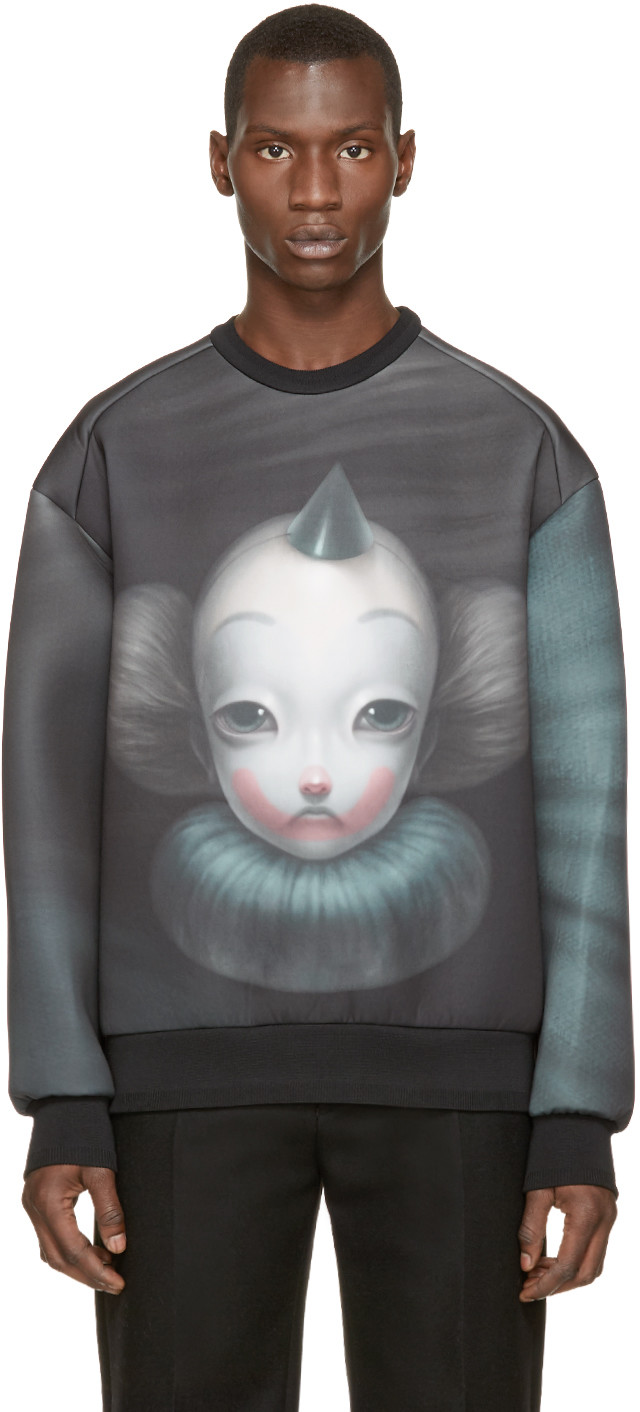 PAUSE Picks: Juun. J Black Neoprene Clown Pullover