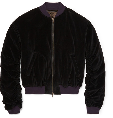 Haider Ackermann Velver Bomber Jacket Launches