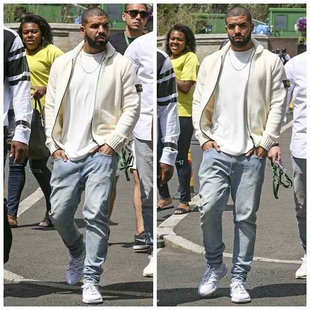 Spotted: Drake In Stone Island & Nike at the Wimbledon 2015 Finale