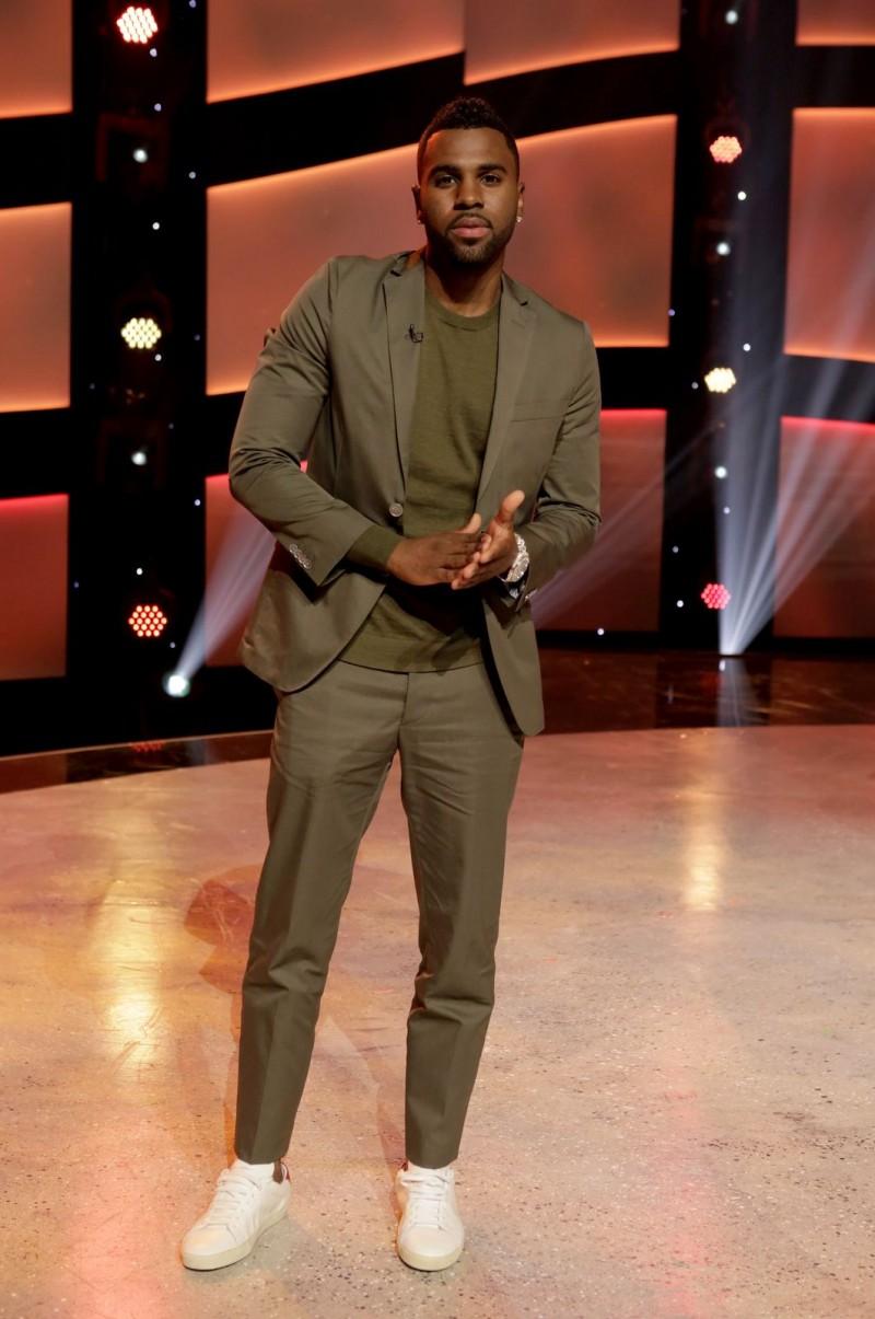 Get The Look: Jason Derulo Rocks The Suit & Sneakers Look