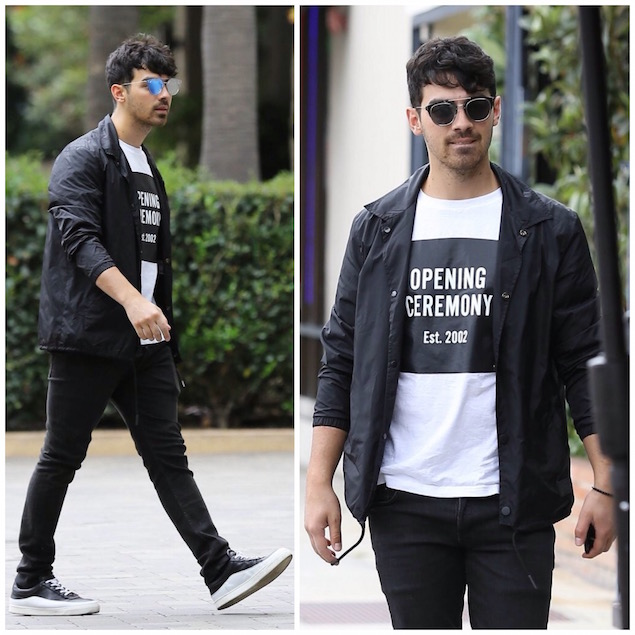Spotted: Joe Jonas in Opening Ceremony and Public School Sneakers
