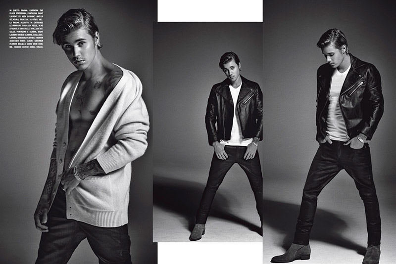 Justin Bieber Covers L'Uomo Vogue July/August 2015