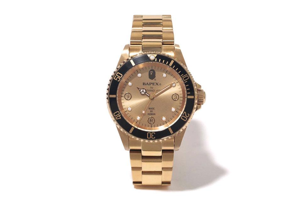 A BATHING APE Unveils Type 2 BAPEX Gold Watch