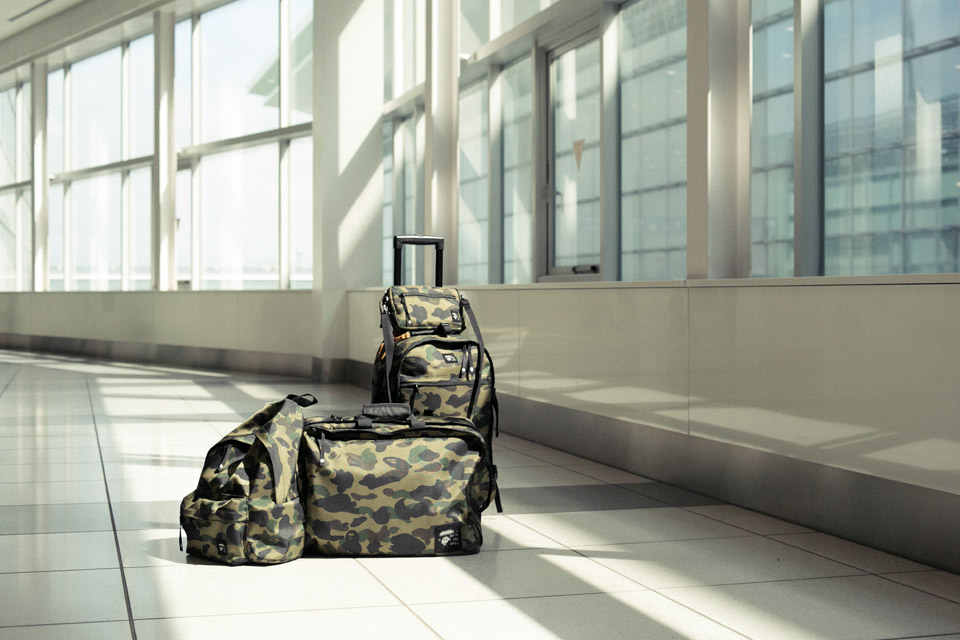 a Bathing Ape Release Luggage Collection