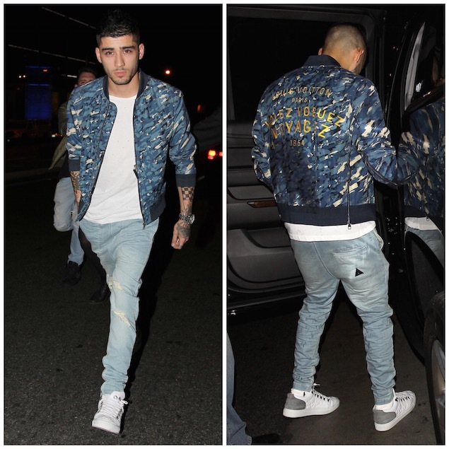Spotted: Zayn Malik In Alexander MCQueen, Louis Vuitton and Filling Pieces
