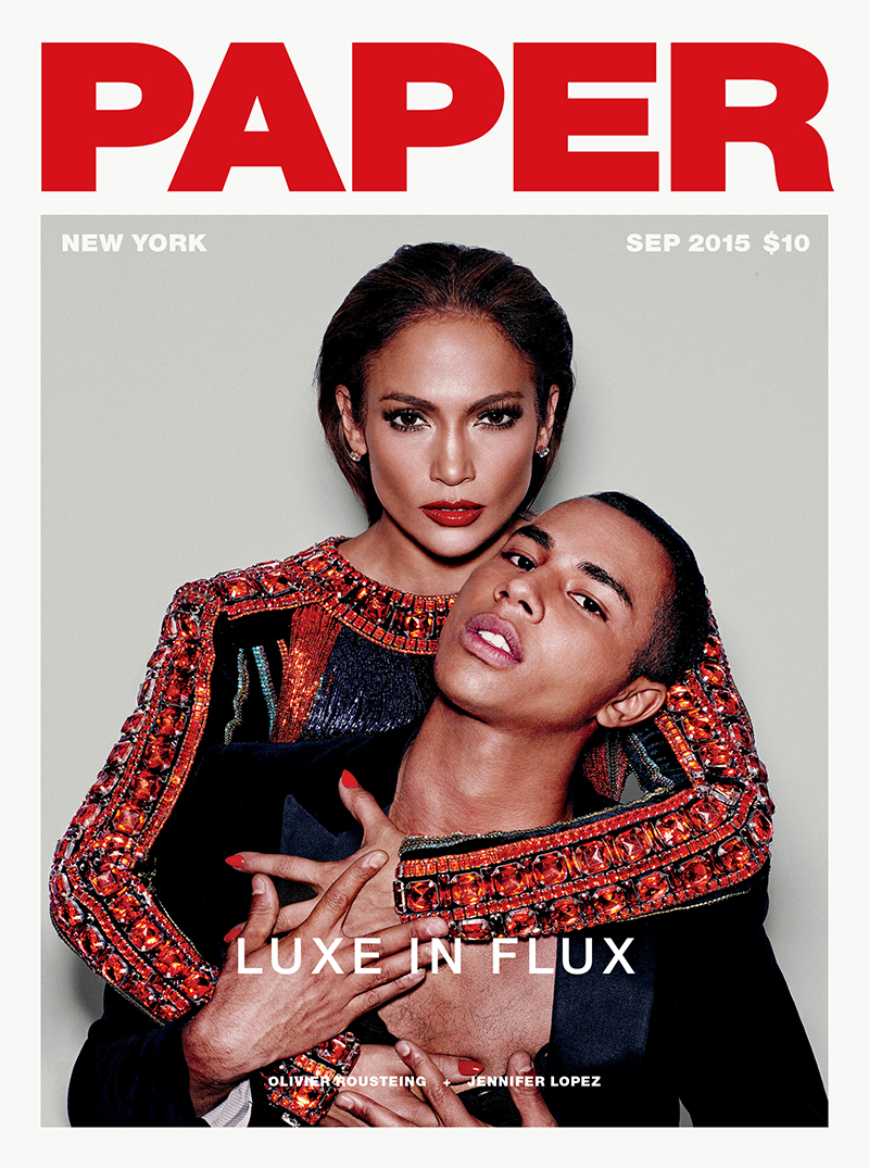 "Paper Magazine ""Lux in Flux"" featuring Jeremy Scott and Olivier Rousteing"