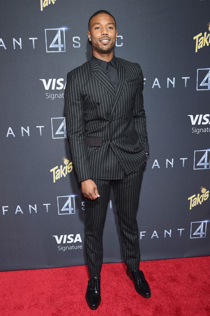 Michael B. Jordan Wears Givenchy Suit to Movie Premiere