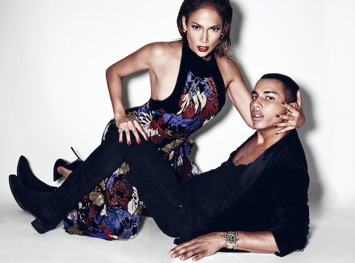 Olivier Rousteing Poses With Jennifer Lopez for Paper and Discusses Celebs and Fashion