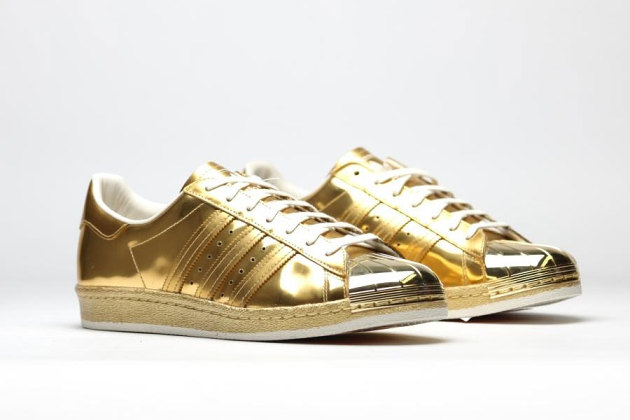 "The adidas Originals Superstar 80s In ""Metallic Gold"""