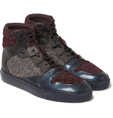 Balenciaga High Top Luxury Leather Sneakers