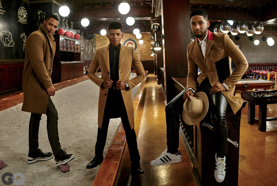 Empire Boys Rock The Classic Camel Coat for GQ