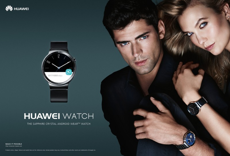 Huawei Watch 2015 Campaign Featuring Sean O'Pry and Karlie Kloss