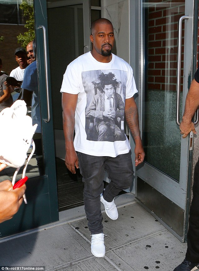 Spotted: Kanye West in Supreme Tee and Adidas Flux Sneakers