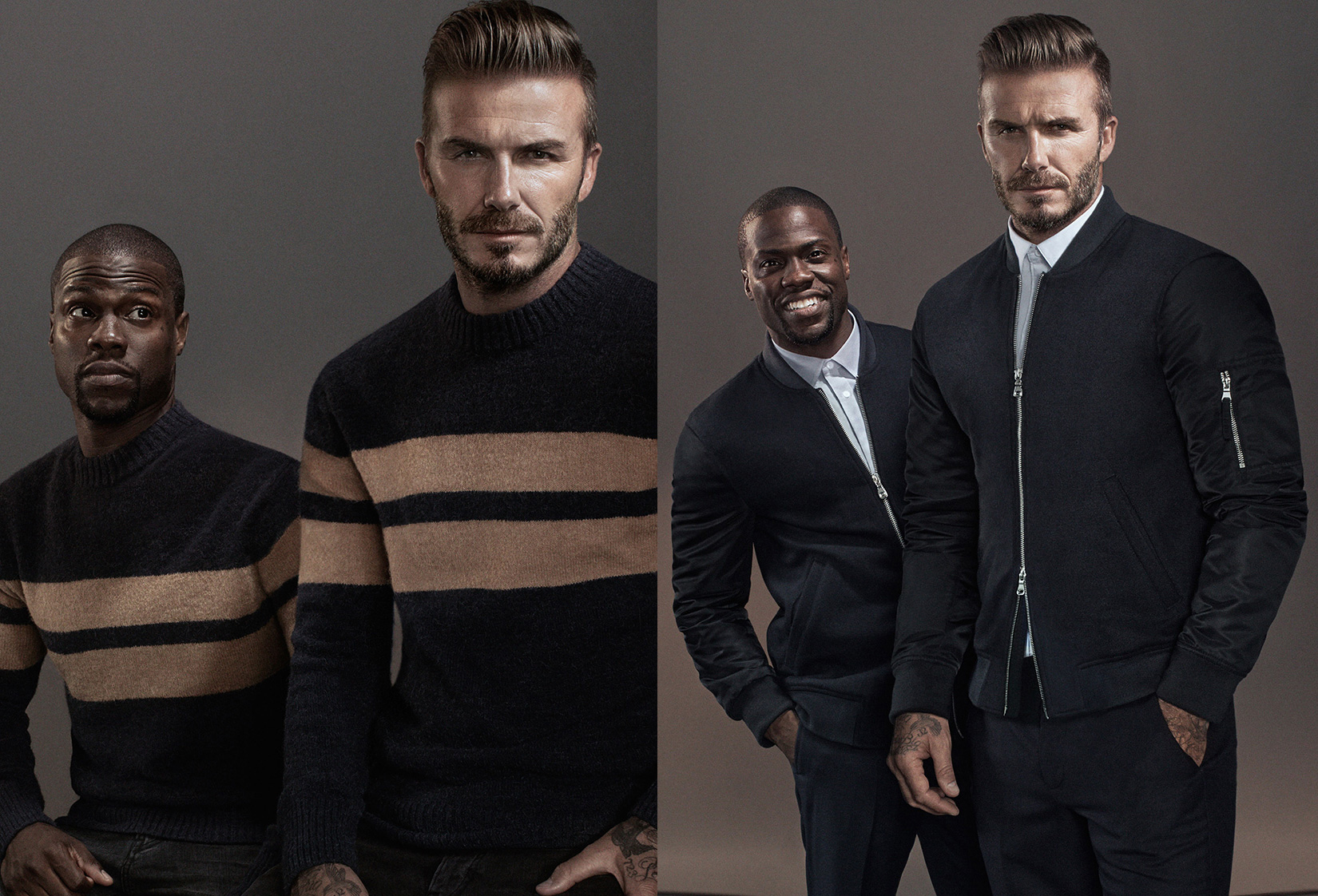 Kevin Hart & David Beckham for H&M Fall 2015 Campaign
