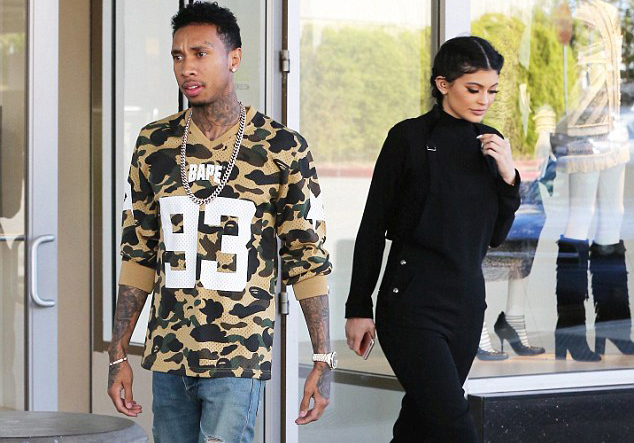 Spotted: Tyga in A BATHING APE and Saint Laurent Skate Sneakers