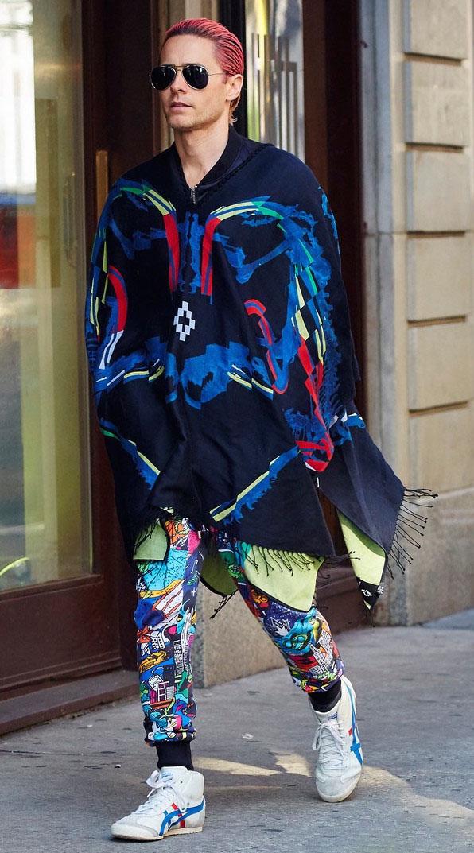 Spotted: Jared Leto in Marcelo Burlon County Of Milan
