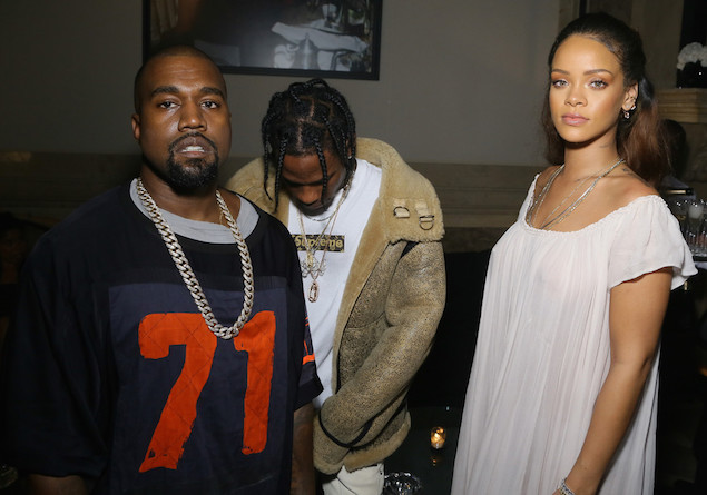 Spotted: Kanye West in Dries Van Noten at Vogue Paris Party