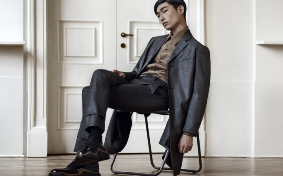 Sang Woo Kim poses for TOM* Magazine